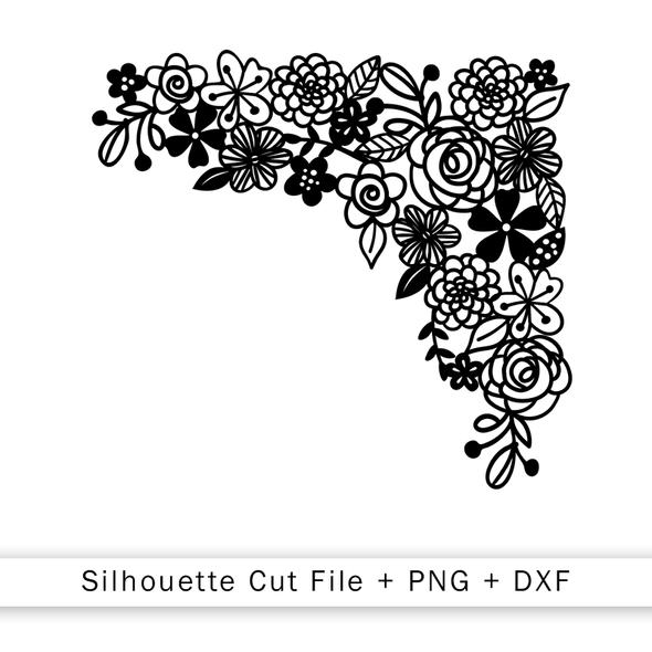 Cut File | Floral Corner