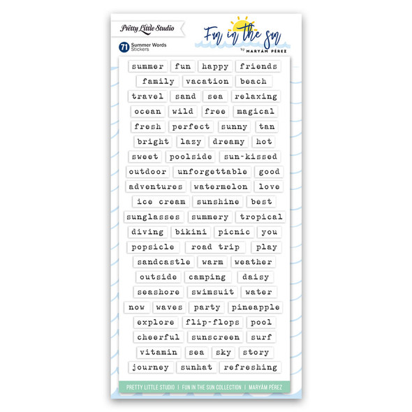 Stickers | Summer Words | White