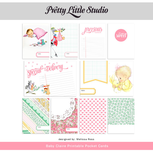 Printable | Baby Claire Cards
