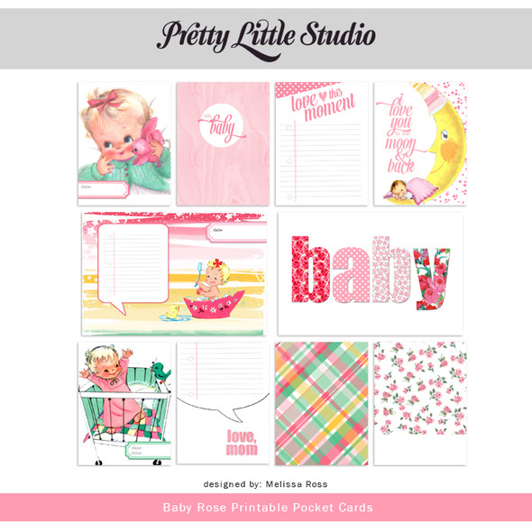 Printable | Baby Rose Cards