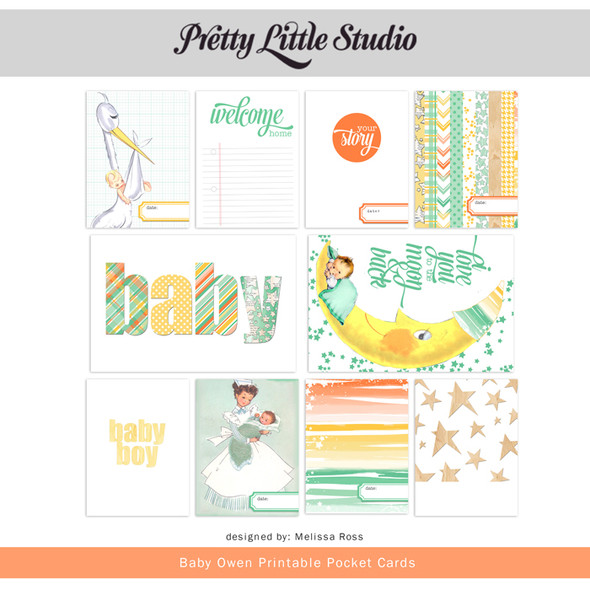 Printable | Baby Owen Cards