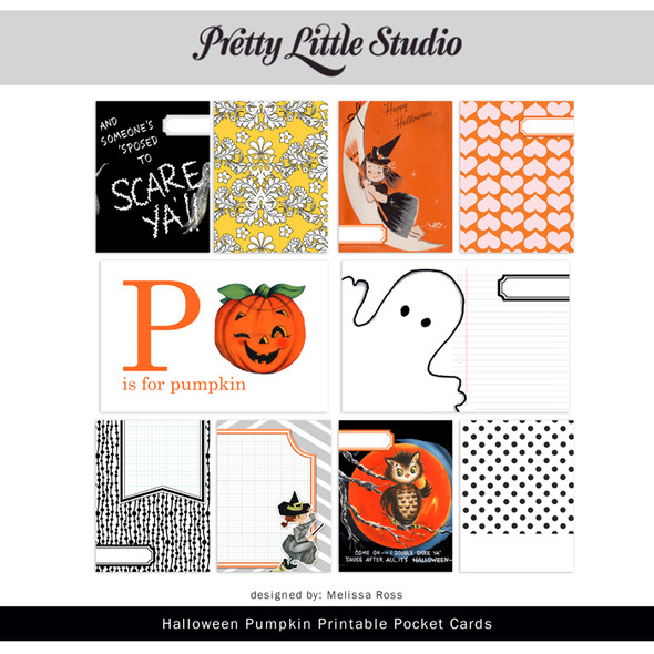 Printable | Halloween Pumpkin Cards