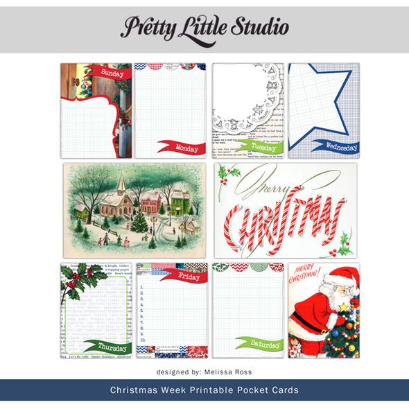 Printable | Christmas Week Cards