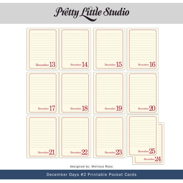 Printable | December Days #2 Cards