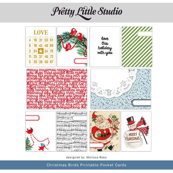 Printable | Christmas Birds Cards