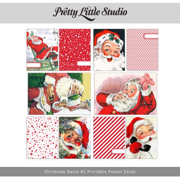 Printable | Christmas Santa #1 Cards