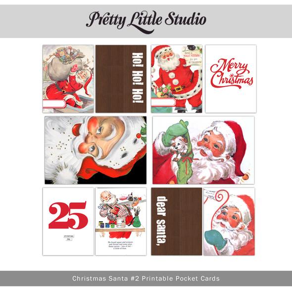 Printable | Christmas Santa #2 Cards