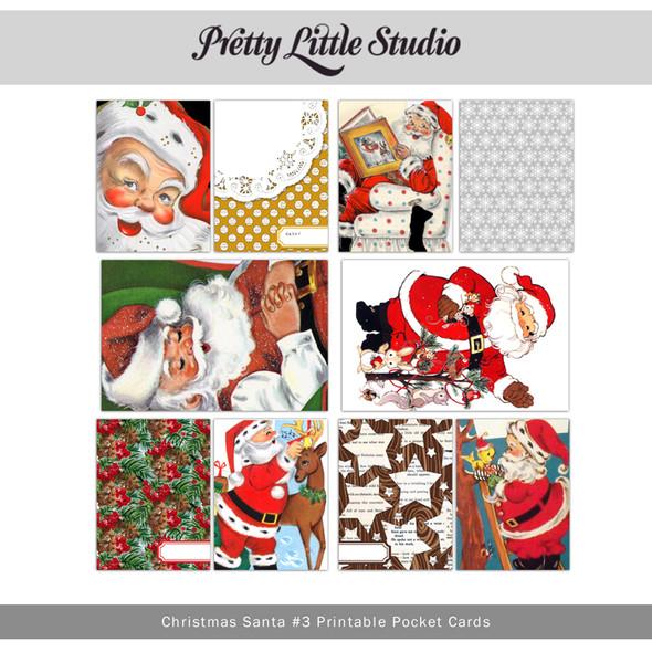Printable | Christmas Santa #3 Cards