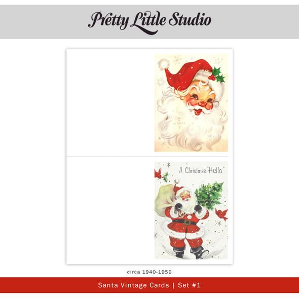 Printable | Santa #1 Vtg Cards