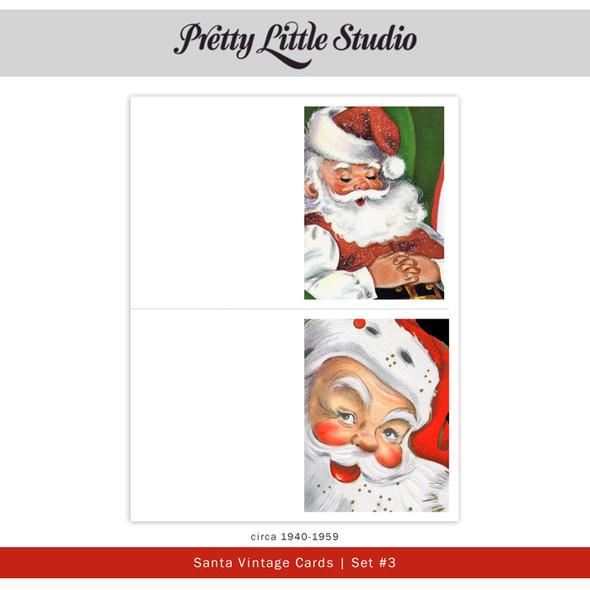 Printable | Santa #3 Vtg Cards