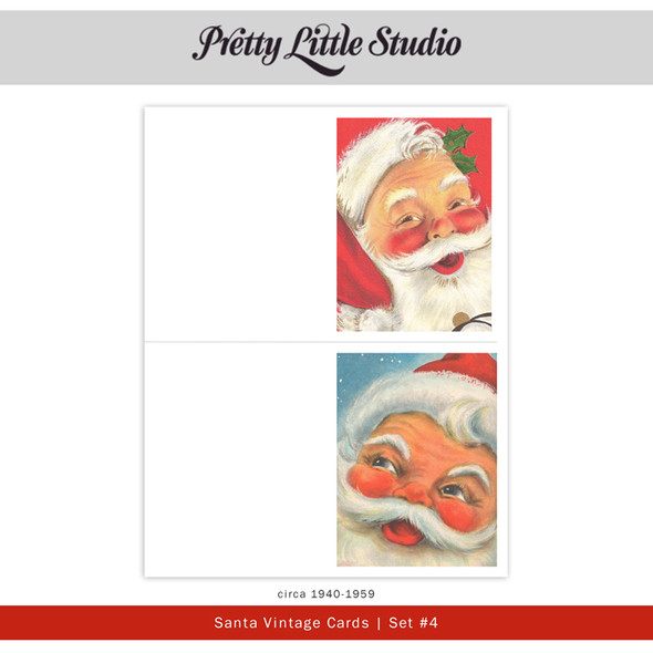 Printable | Santa #4 Vtg Cards
