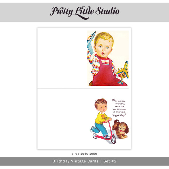 Printable | Birthday #2 Vtg Cards