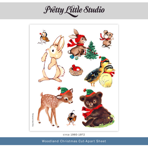 Printable | Woodland Christmas Cut-Aparts