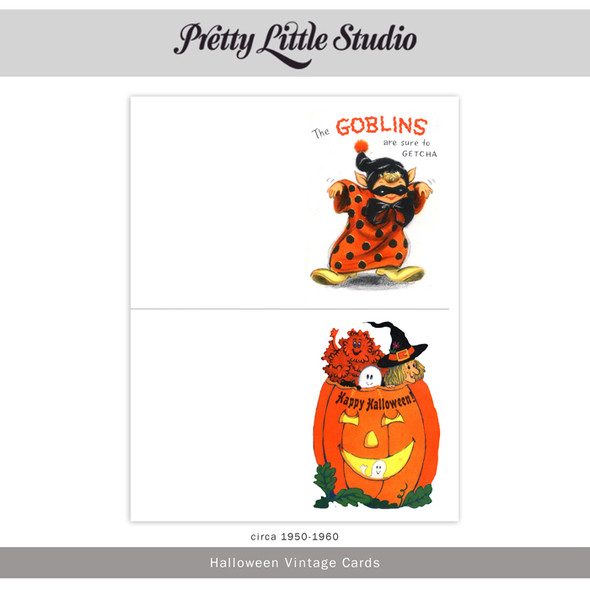 Printable | Halloween Vtg Cards