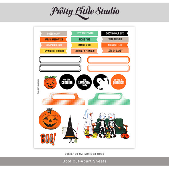 Printable |  Boo! Cut-Aparts