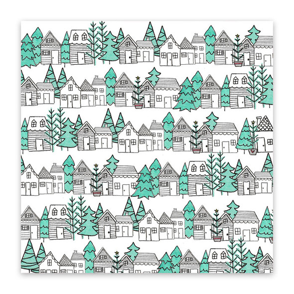 Paper | Christmas Town #3 | 12x12 (single-sided)
