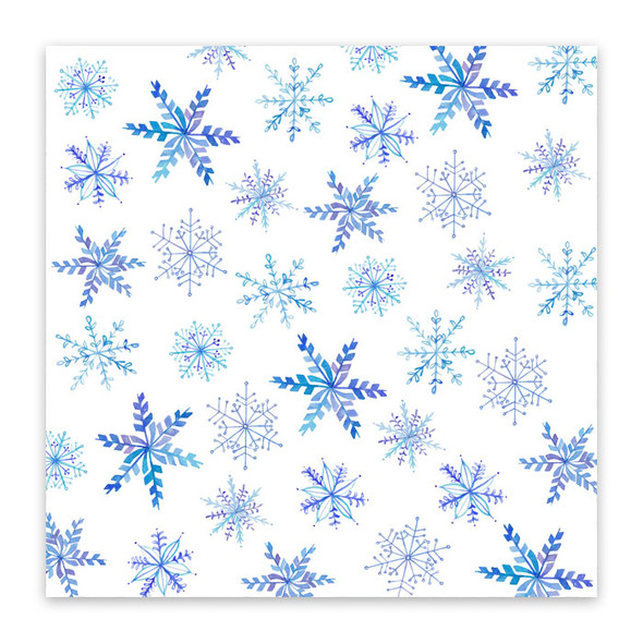 Paper | December Snow 12x12 (single-sided)