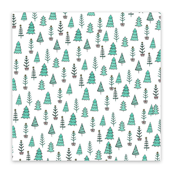 Paper | Fir Trees 12x12 (single-sided)