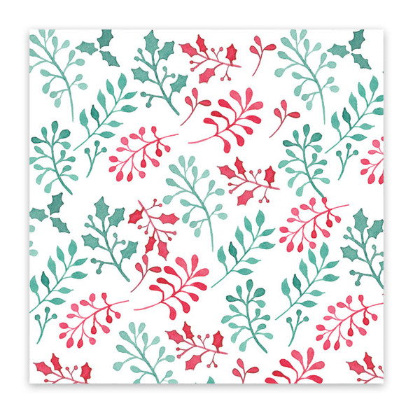 Paper | Holly Berries 12x12 (single-sided)