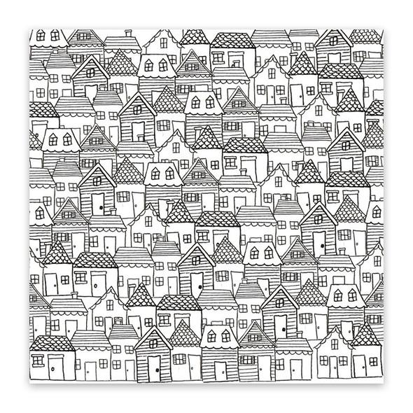 Paper | Santa's Village 12x12 (single-sided)
