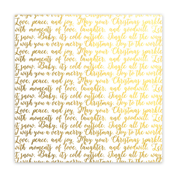 Metallic Vellum | Merry & Bright | Gold