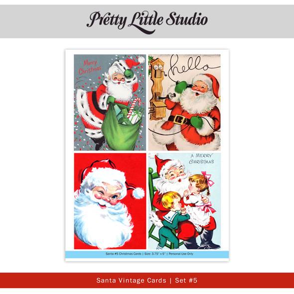 Printable | Santa #5 Vtg Cards