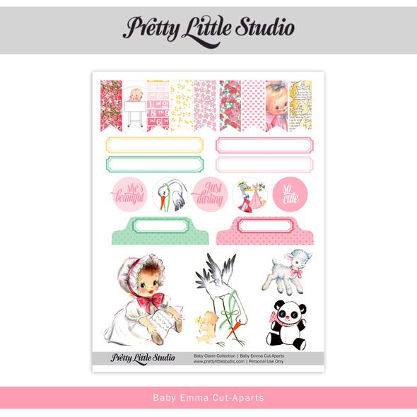 Printable |  Baby Emma Cut-Aparts