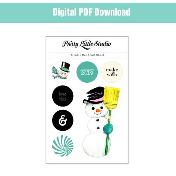 Freebie | Snowman Cut-Apart Download