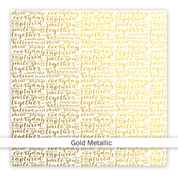Metallic Vellum | Trustworthy 8x8 | Gold