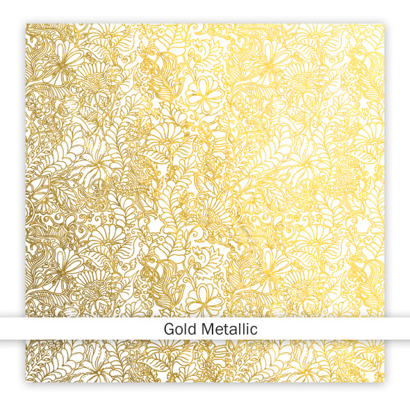 Metallic Clear | Be Joyful 8x8 | Gold