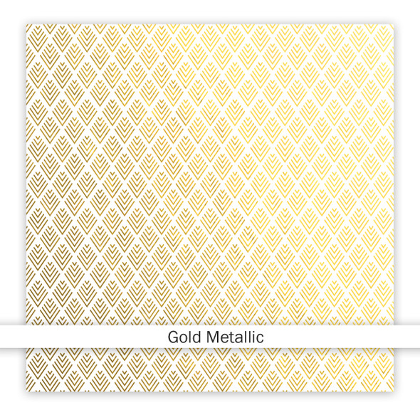 Metallic Clear | Be Patient 8x8 | Gold
