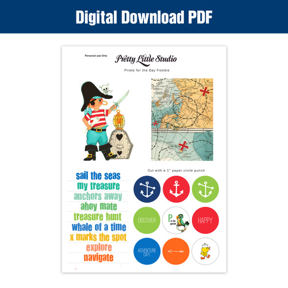 Freebie Download | Pirate for the Day Cut-Apart