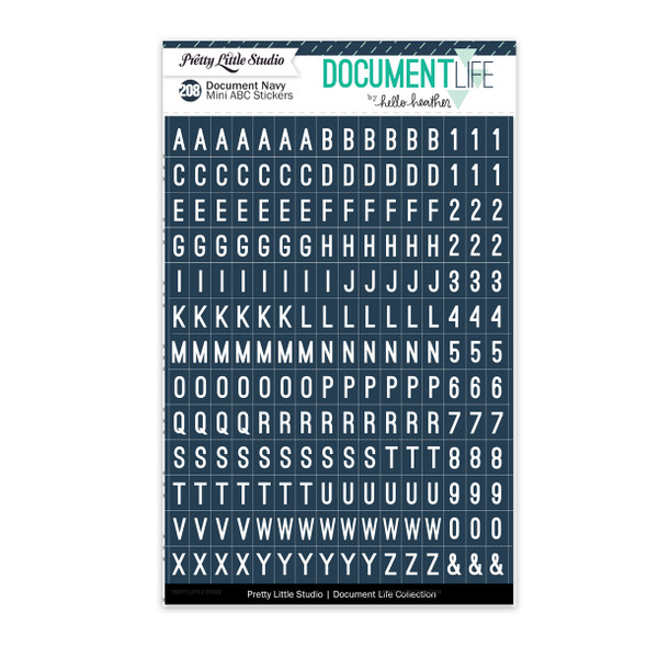 Stickers | Mini ABC | Document Navy
