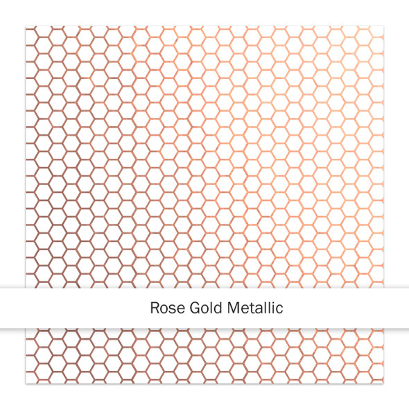 Metallic Clear | Bee Happy 8x8 | Rose Gold