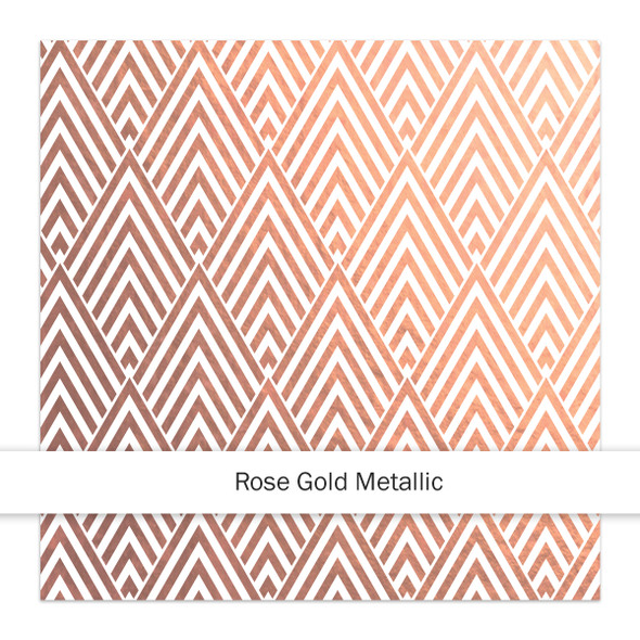 Metallic Clear | Gatsby 8x8 | Rose Gold