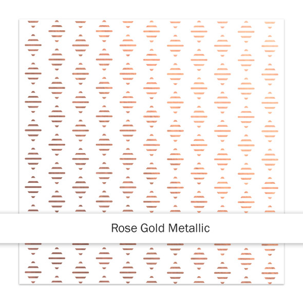 Metallic Clear | Jazzy 8x8 | Rose Gold
