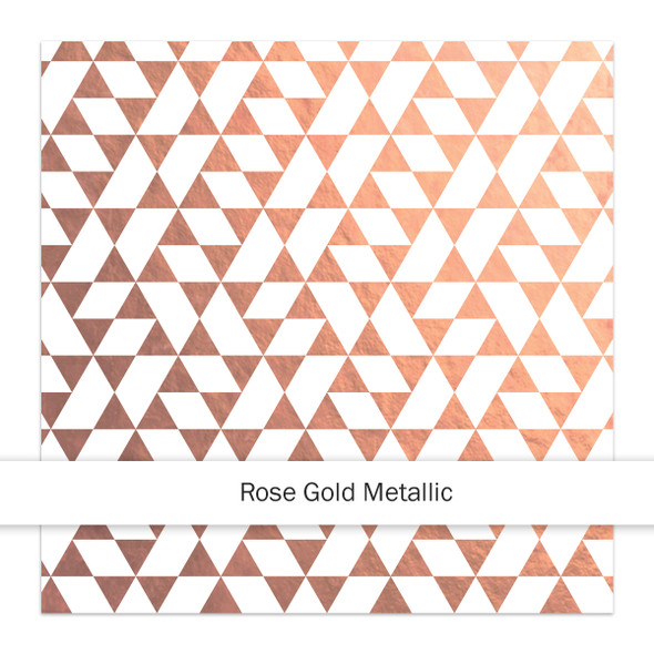 Metallic Clear | La Fresca 8x8 | Rose Gold