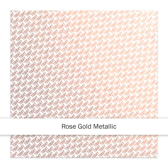 Metallic Clear | Today 8x8 | Rose Gold