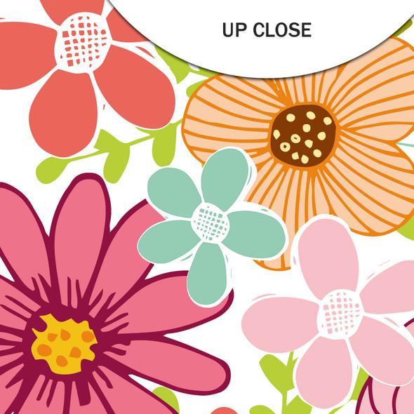 Clear | Flower Garden 8x8