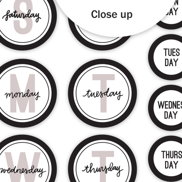 Die-Cuts | Days of the Week