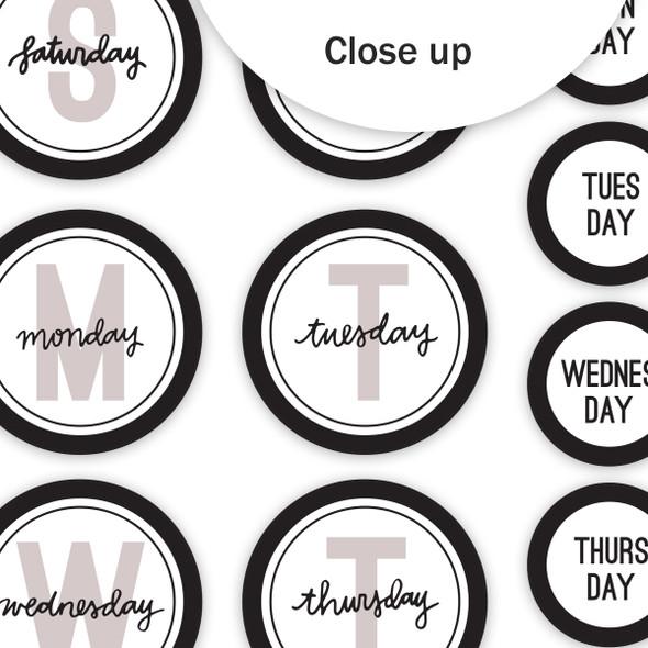 Die-Cuts | Days of the Week