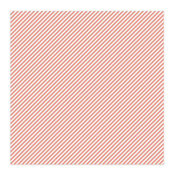 Paper | Candy Stripe 12x12 | Coral (single-sided)