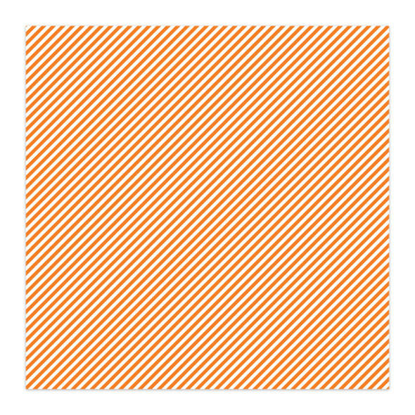 Paper | Candy Stripe 12x12 | Orange (single-sided)