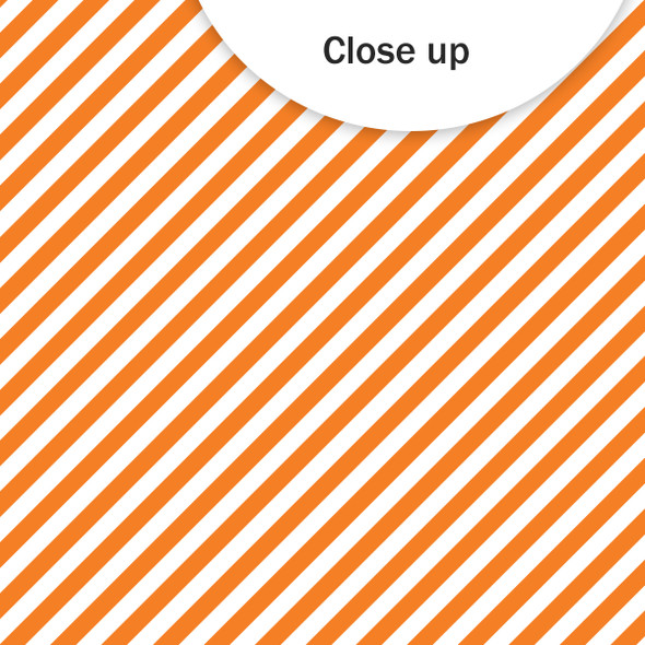 Paper | Candy Stripe 12x12 | Orange (single-sided)