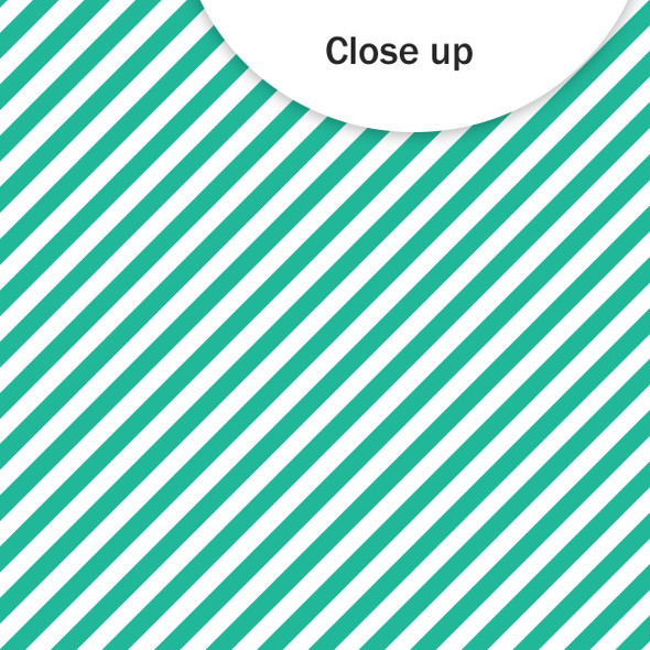 Paper | Candy Stripe 12x12 | Teal (single-sided)