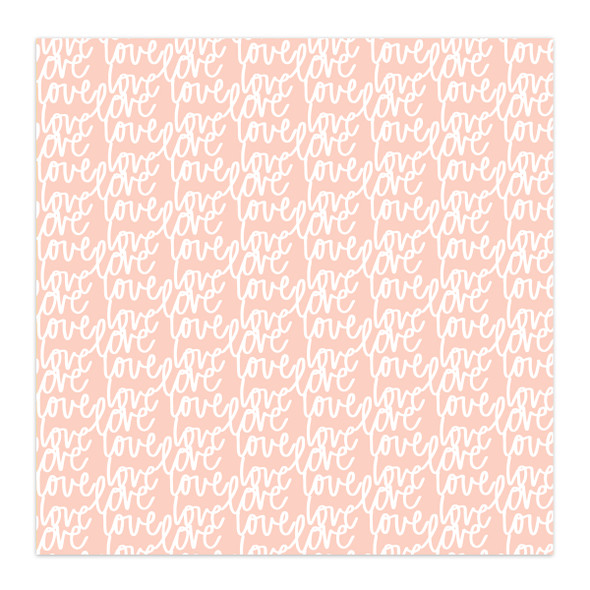 Paper | Love Love 12x12 | Peach (single-sided)