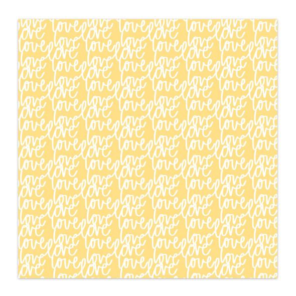 Paper | Love Love 12x12 | Yellow (single-sided)