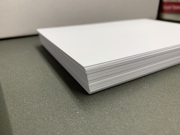 Pack | White 4x6 Card Stock (50 sheets)