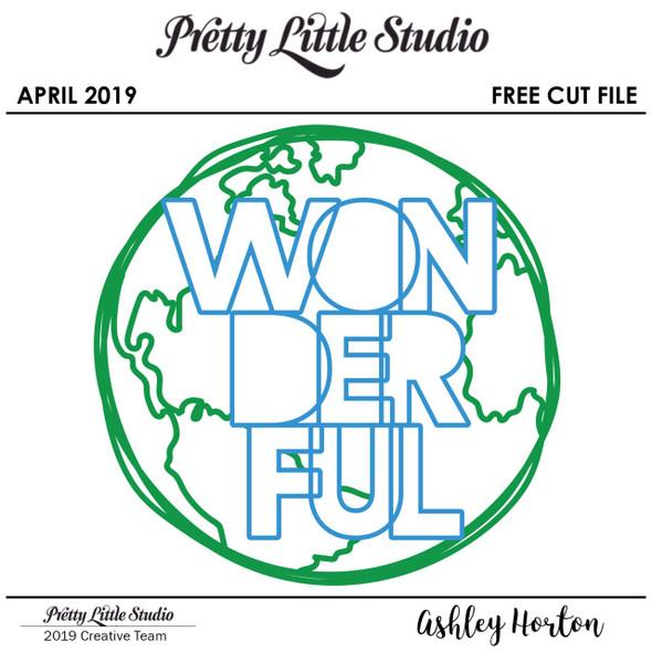FREE Cut File | Wonderful World