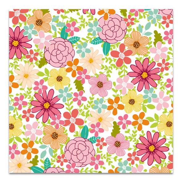 Vellum | Flower Garden 8x8